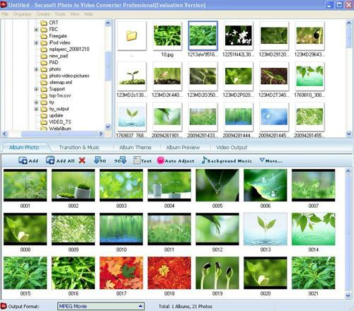 Photo to Video Converter Professional screenshot