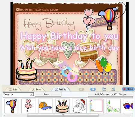 Birty Day E Card Design