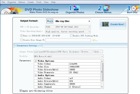 make high definition blu-ray dvd music slide show