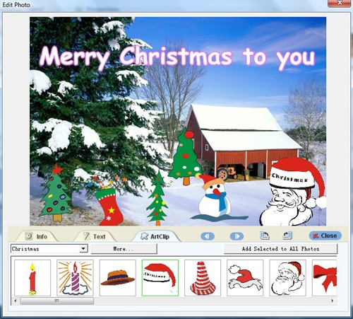 Make christmasbusinessbirthday greeting cardsfree photo card maker xmas cards design m4hsunfo