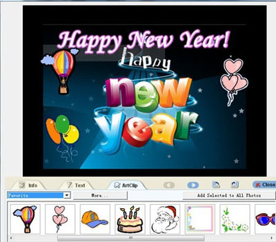 Choose a new year theme template. To send your new years e card to others by