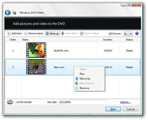 Make slide show and burn to DVD with Windows DVD Maker