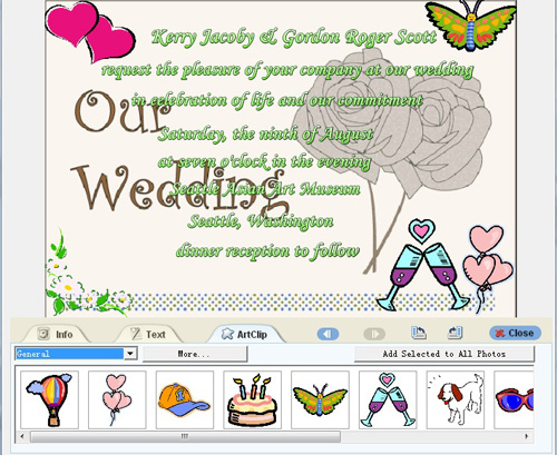 The creator has two kinds of free template for making marriage invitation